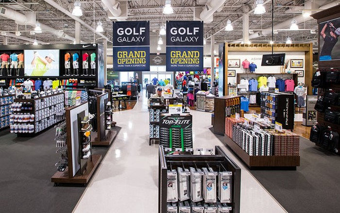 A Golf Galaxy store opening in a former Goldsmith location