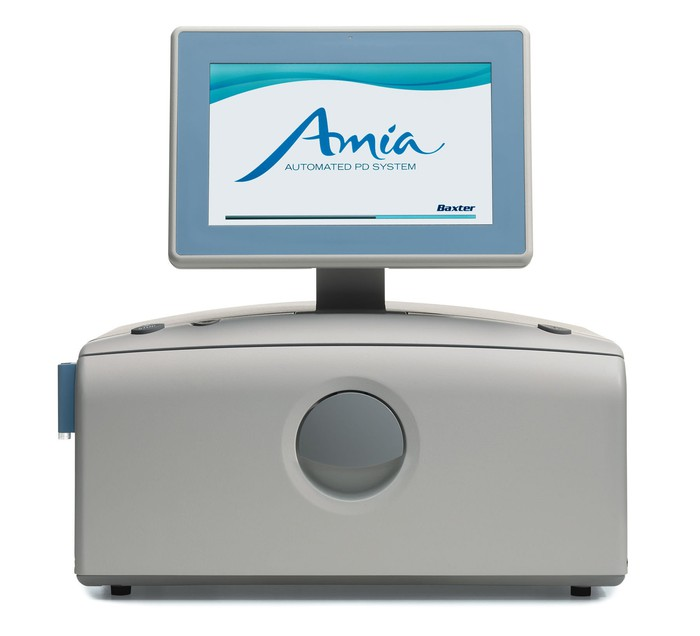 Baxter International's Amia automated peritoneal dialysis cycler with Sharesource connectivity.
