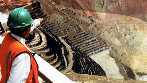 A Southern Copper employee.