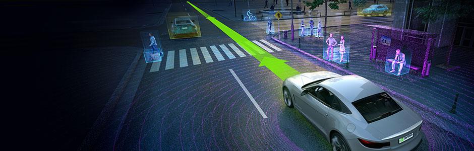 Concept of an autonomous car.