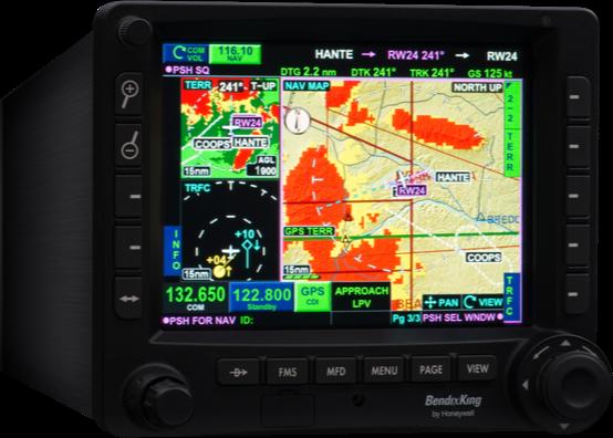 Honeywell navigation display.
