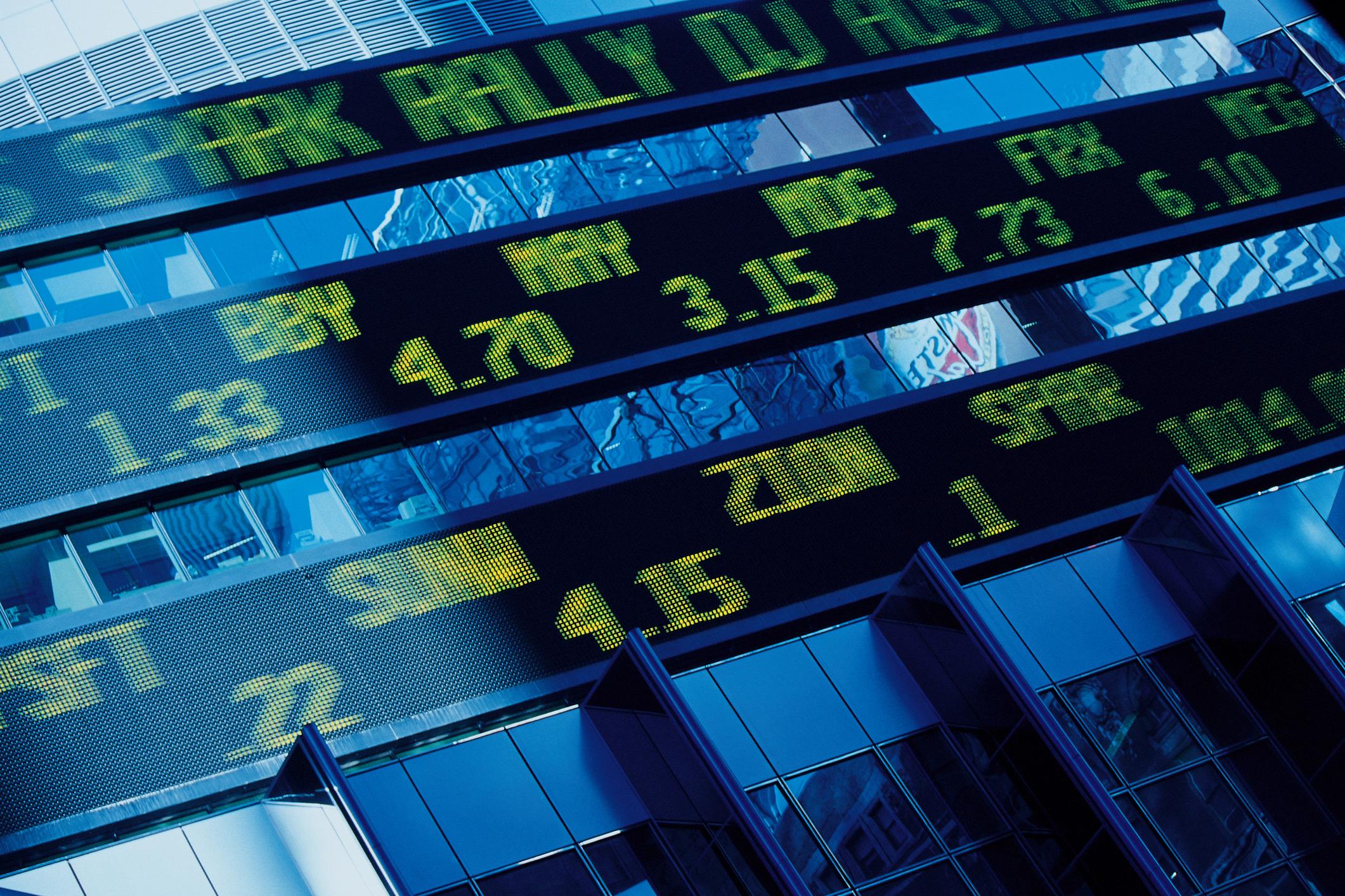 Stock ticker board