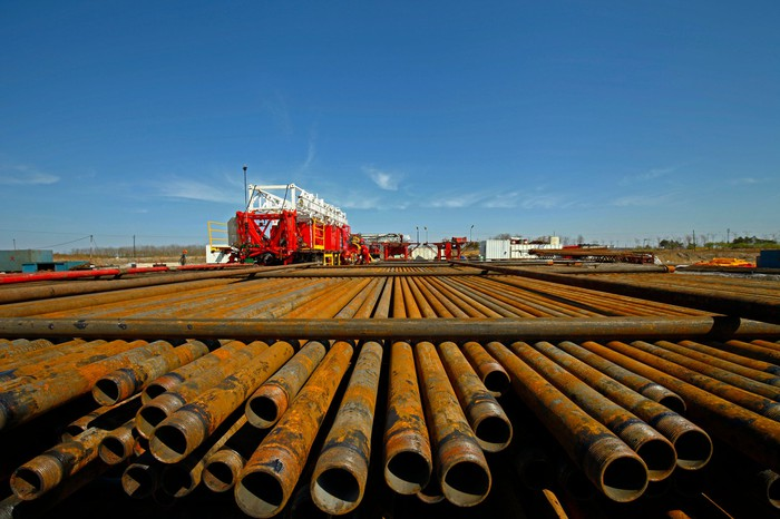 Drilling equipment and piping.