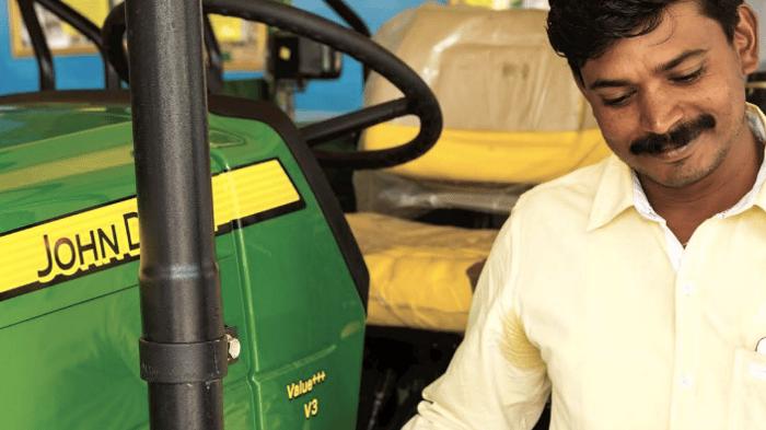 A John Deere tractor in India.