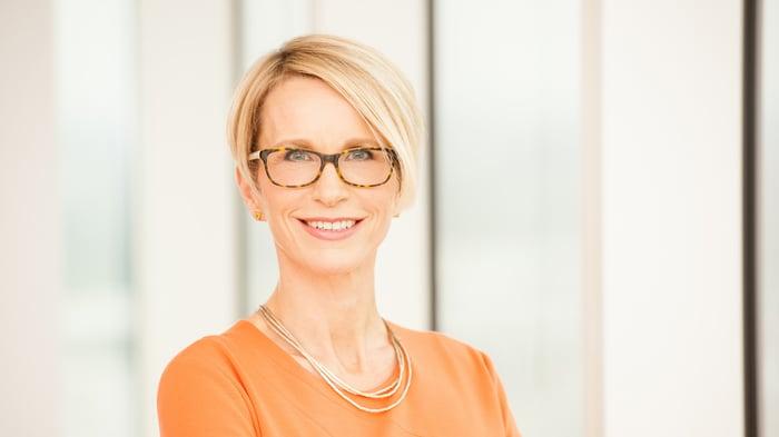 Portrait of GlaxoSmithKline CEO Emma Walmsley