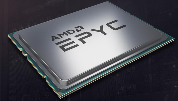 A representative image of AMD's Epyc chip.