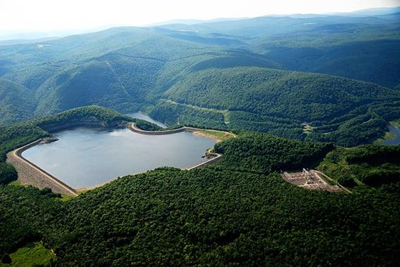 A water storage reservoir.