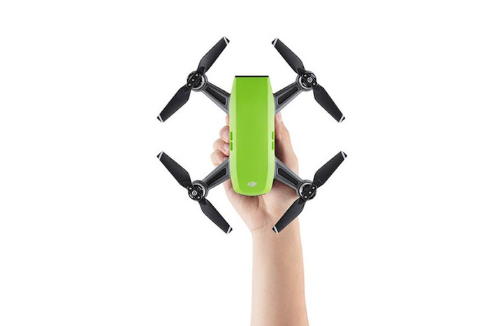 Hand holding a DJI Spark