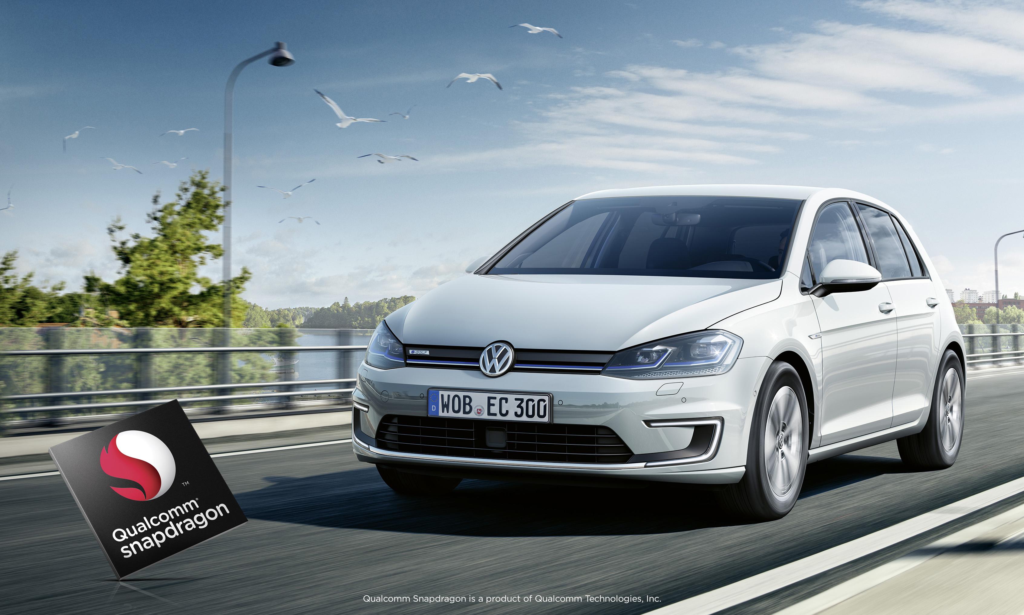 Volkswagen car and Snapdragon chip.