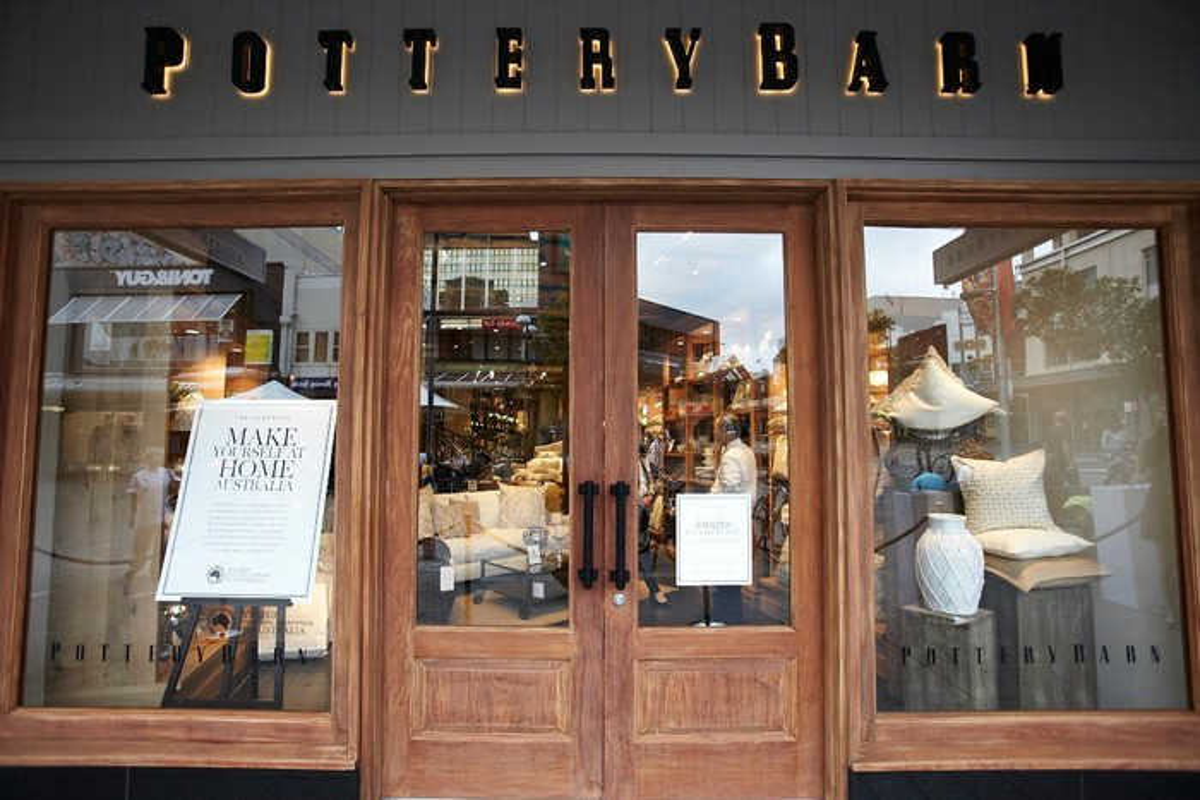 Pottery Barn storefront.
