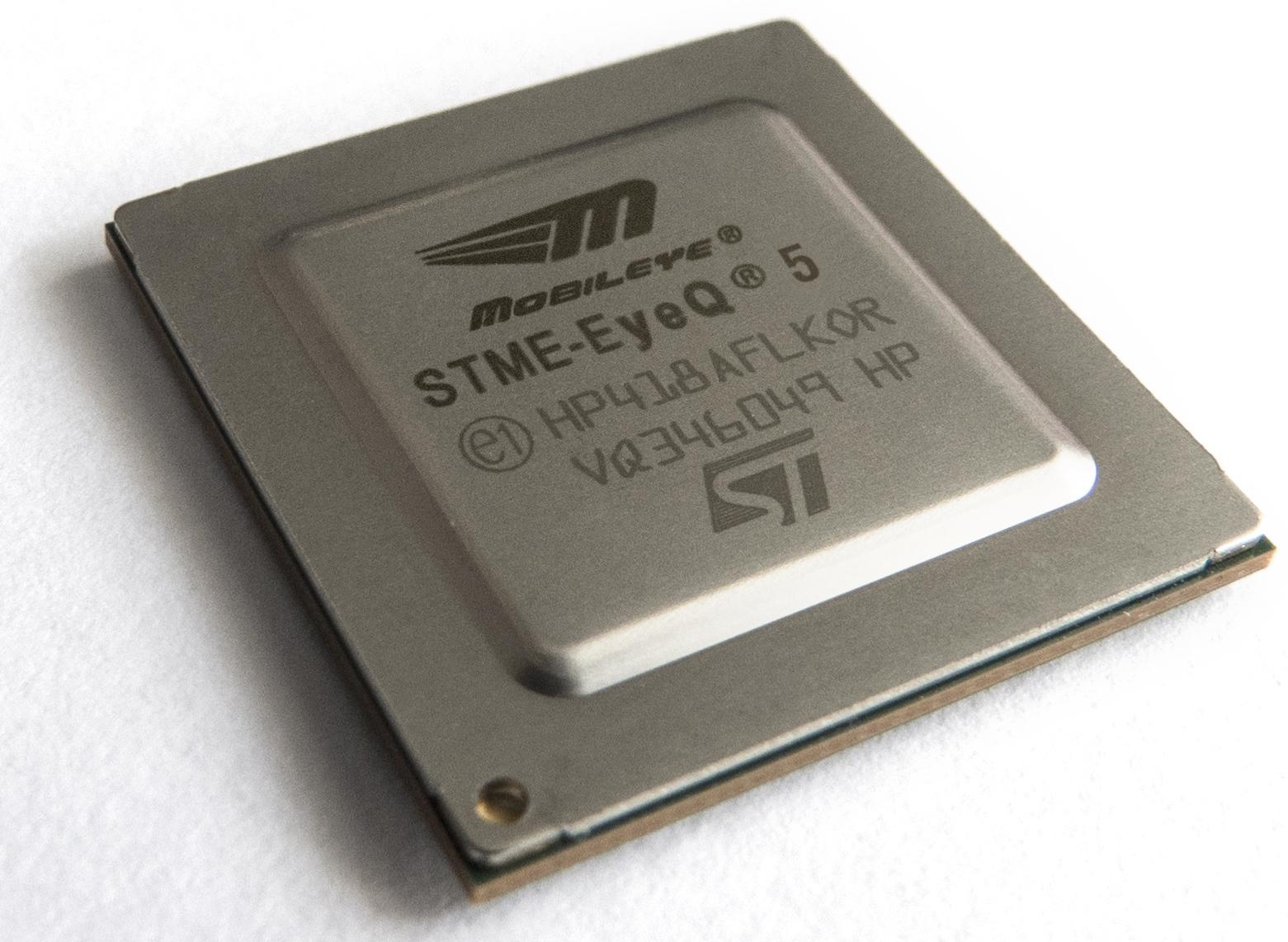 The Moblieye EyeQ5 chip.