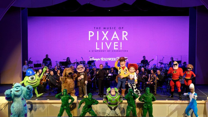 Pixar Live stage show with various Pixar film characters.