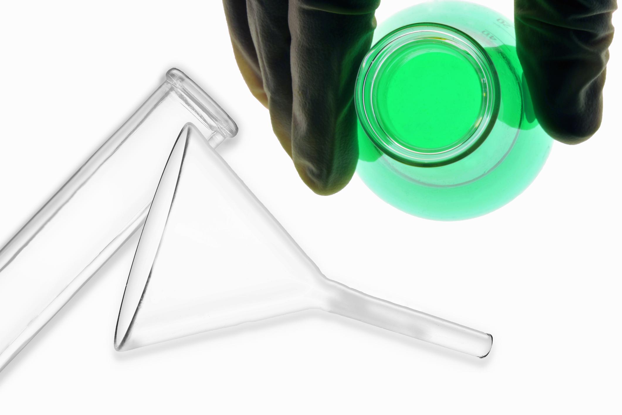 Chemical in beaker