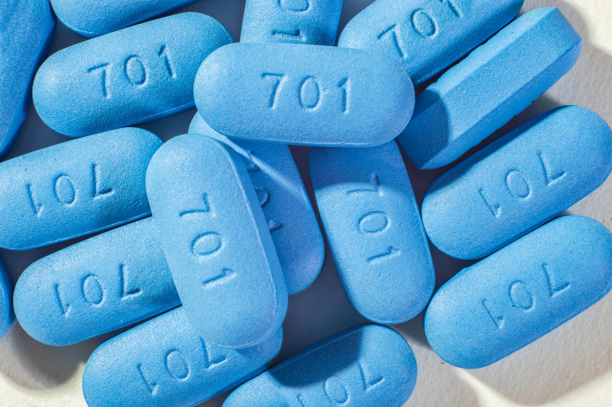 A pile of Gilead Sciences' Truvada pills.