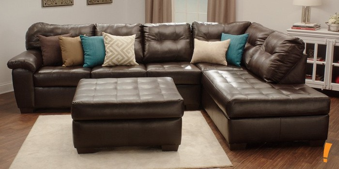 A Big Lots sectional couch.
