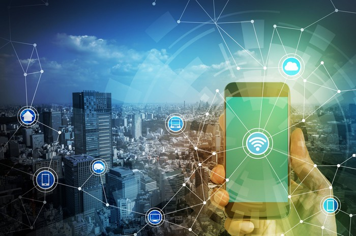 Image depicting wireless technology