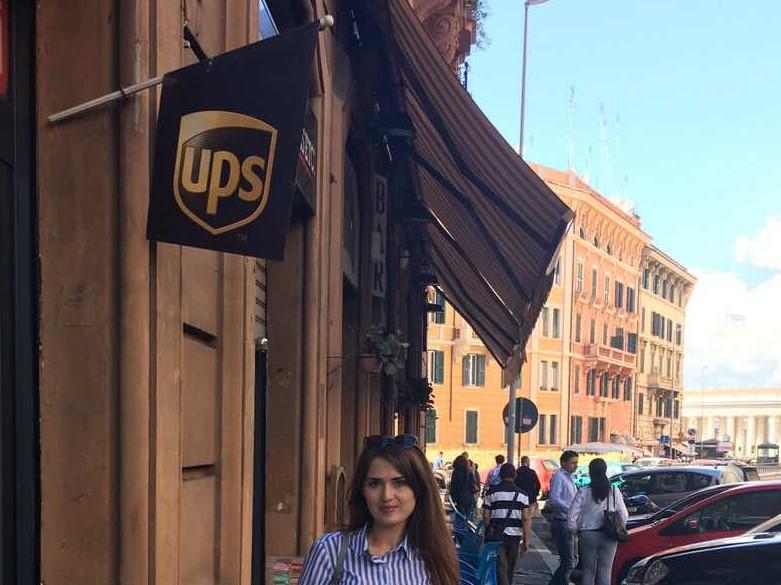 A UPS flag in Rome