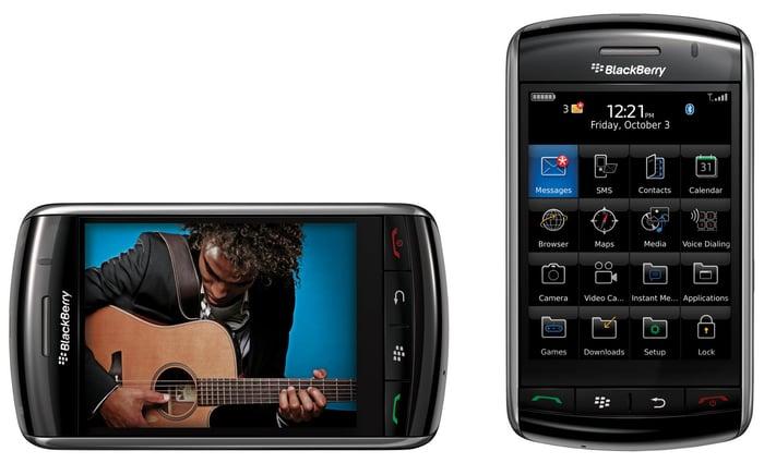 BlackBerry's Storm smartphone.
