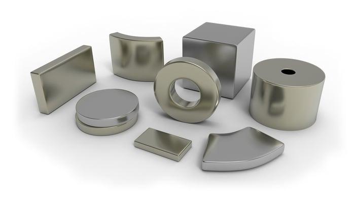 Neodymium magnets.