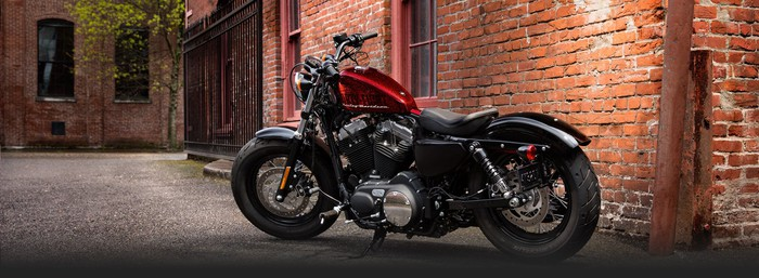Red Harley-Davidson Sportster Forty-Eight