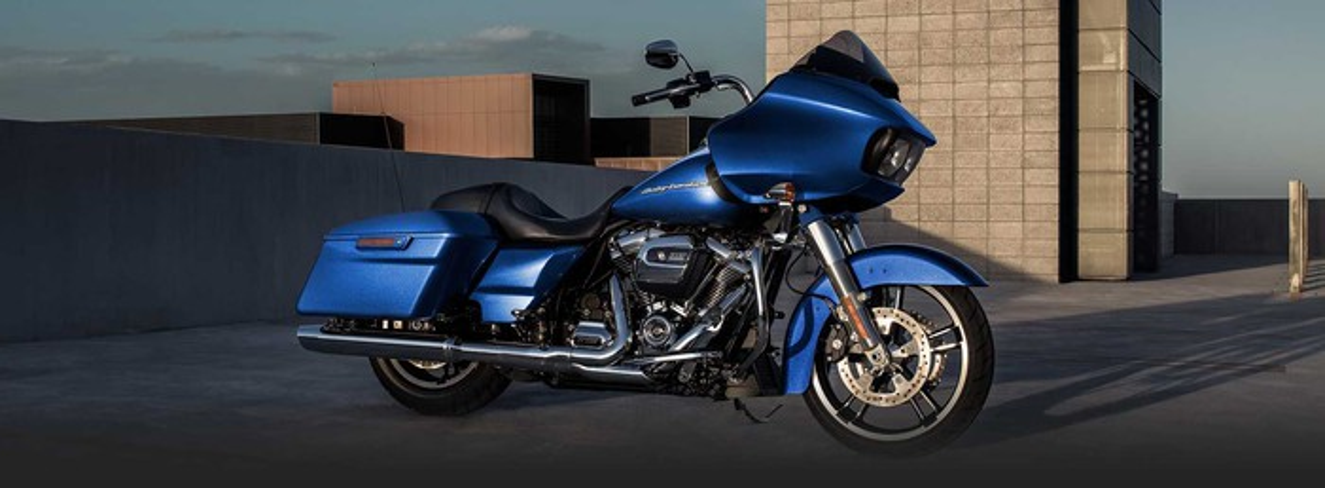 Blue Harley-Davidson Road Glide