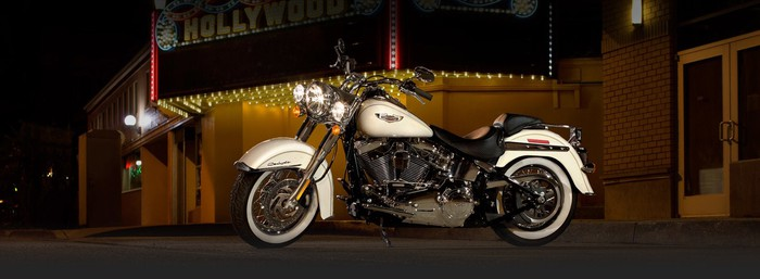 White Harley-Davidson Softail Deluxe