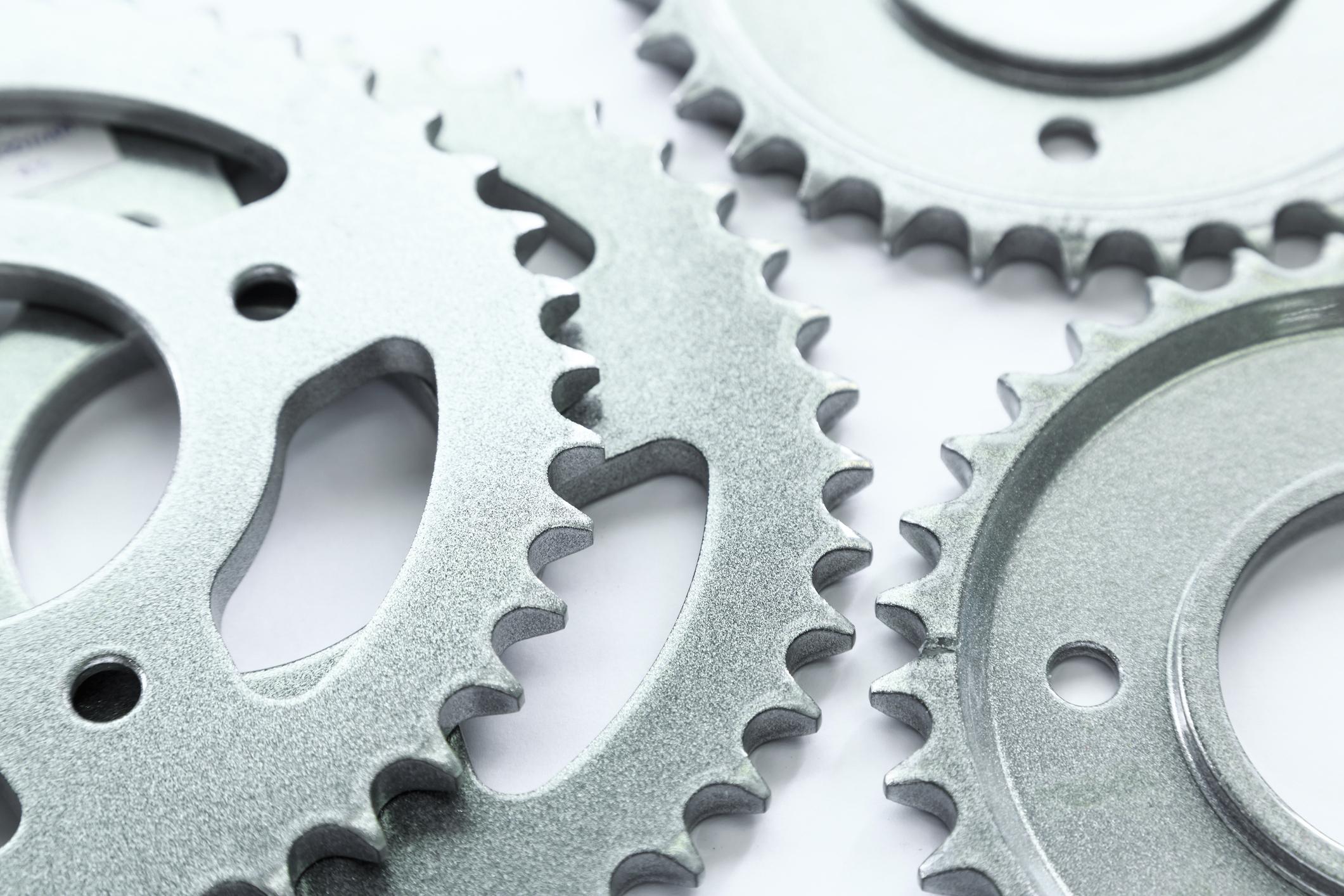 3D-printed bicycle gears.