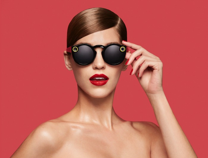 A model wearing Spectacles