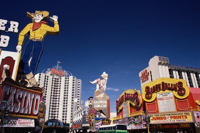 Downtown district of Las Vegas