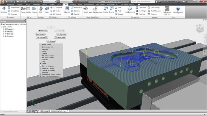 Integrated CAD/CAM features in Autodesk's software