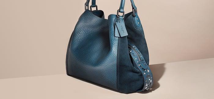 A Coach handbag.