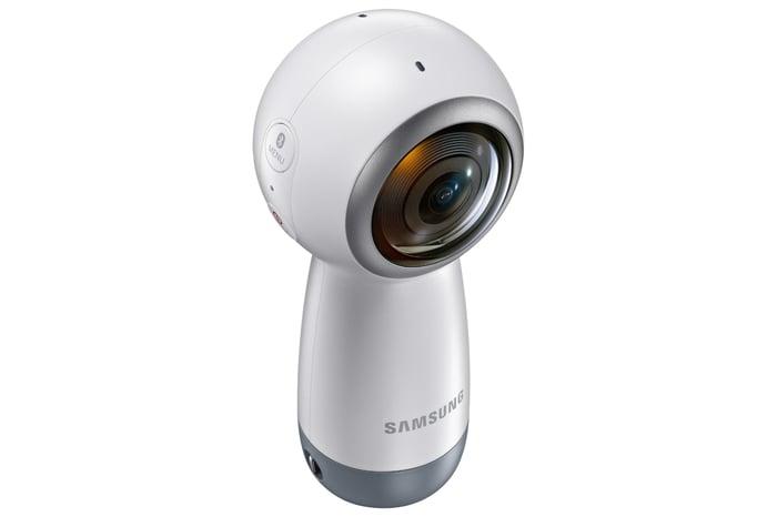 Samsung's Gear 360 handheld 360 camera.