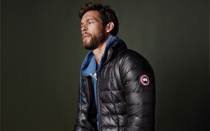 A model in a Canada Goose jacket