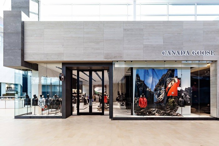 The storefront of Canada Goose's flagship location in Toronto.