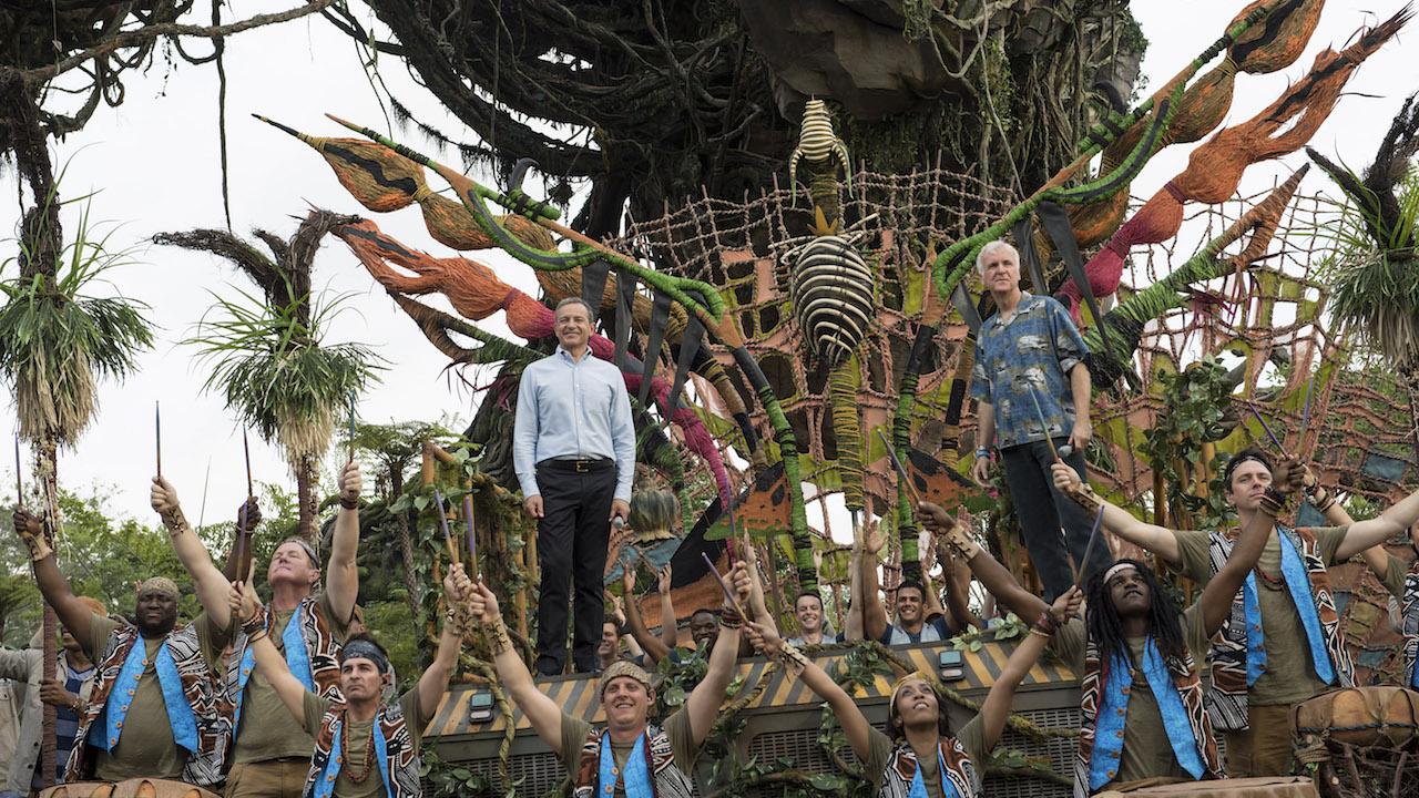 Disney CEO Bob Iger and James Cameron at the grand opening of Pandora.
