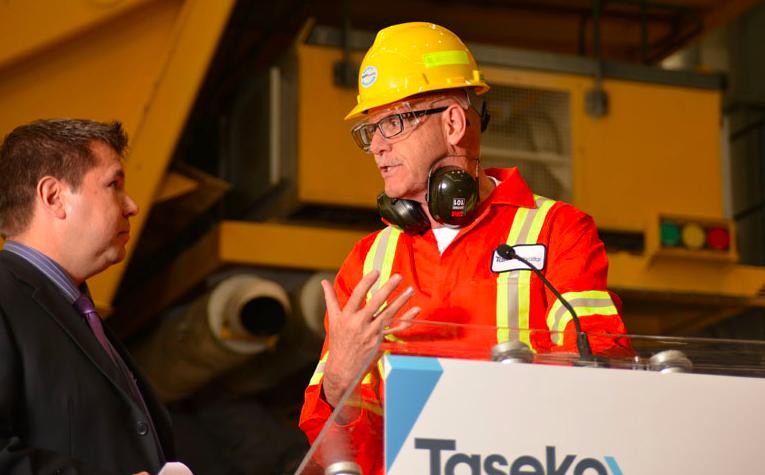 Taseko employees talking