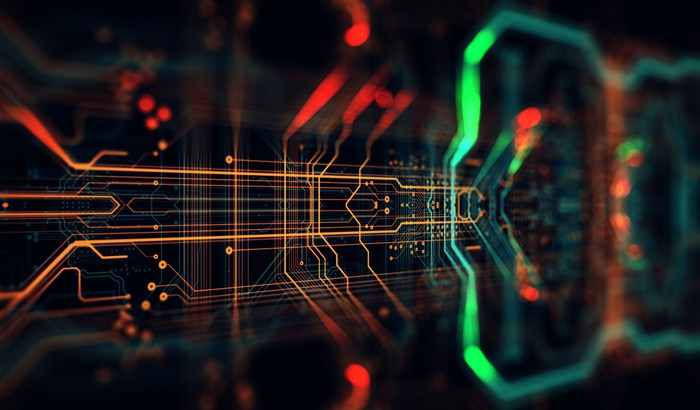 Abstract illustration of circuit board