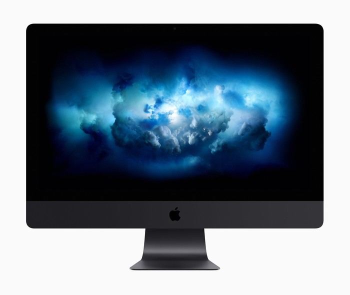 Front view of new iMac Pro
