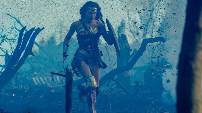 Wonder Woman, in a still from the film