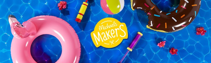 Michaels advertising for its makers program.