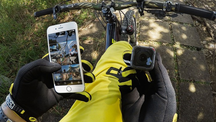 The Session paired with GoPro's mobile app.