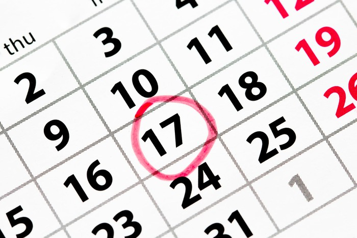 Calendar with date circled.
