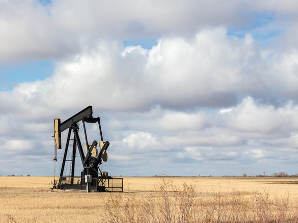 Getty Oil Well in Remote Field
