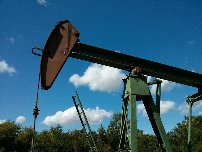 A pump jack recovering oil.