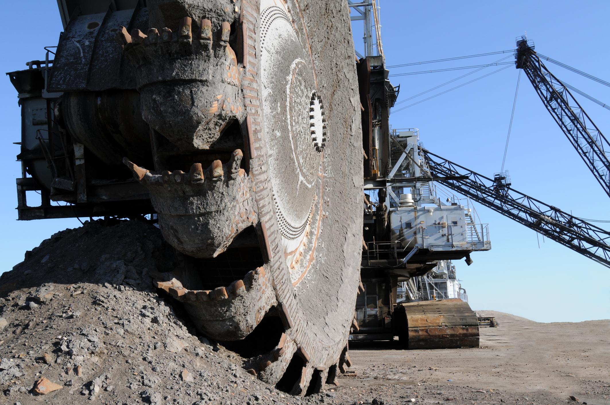 Oil sands mining equipment