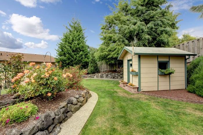A backyard shed