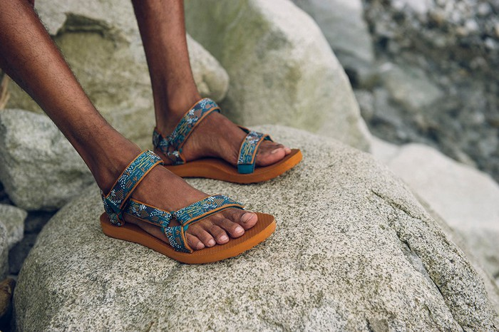 Teva sandals, Decker's brands