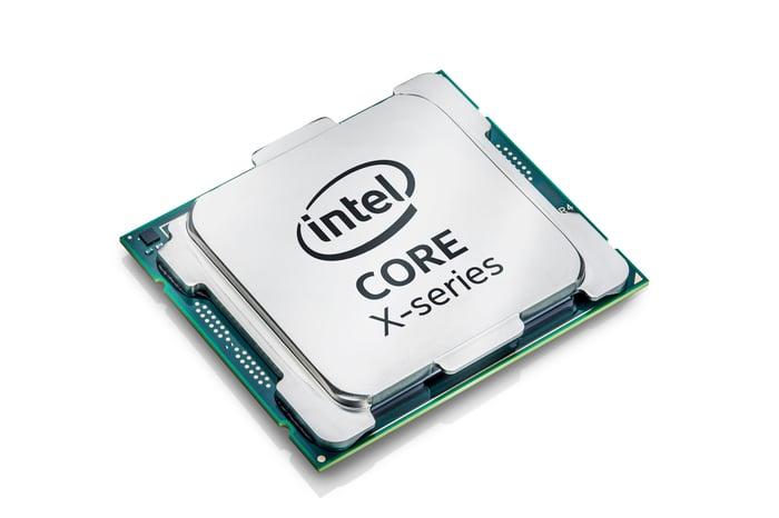 An Intel Core X chip.