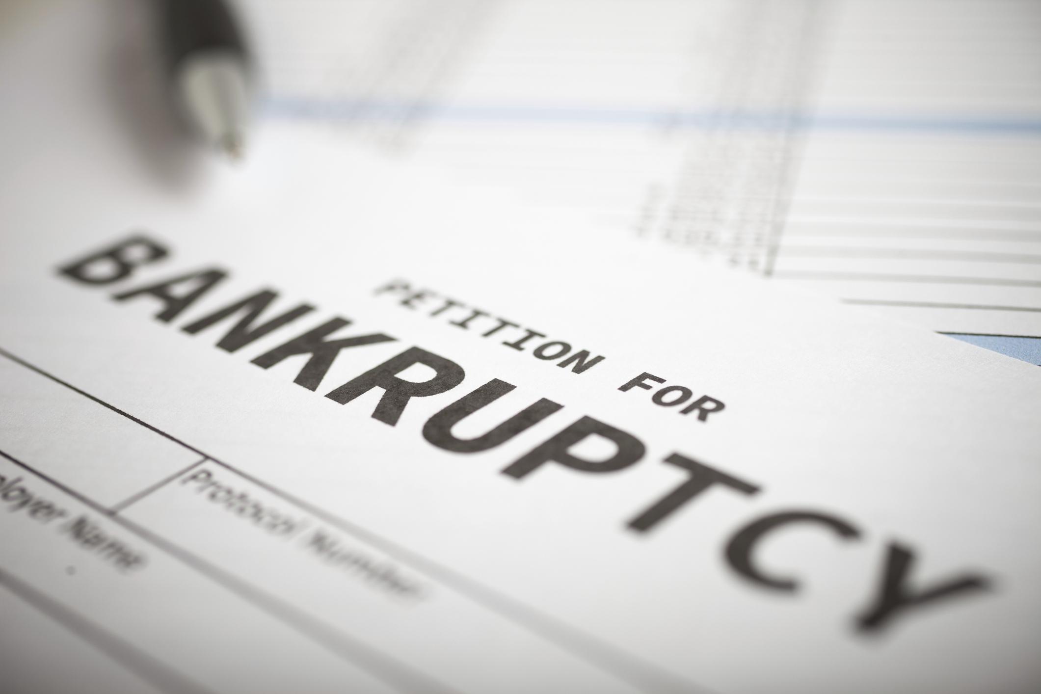 A bankruptcy form