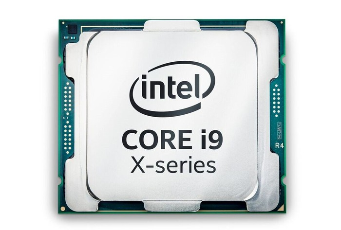 An Intel Core i9 processor.